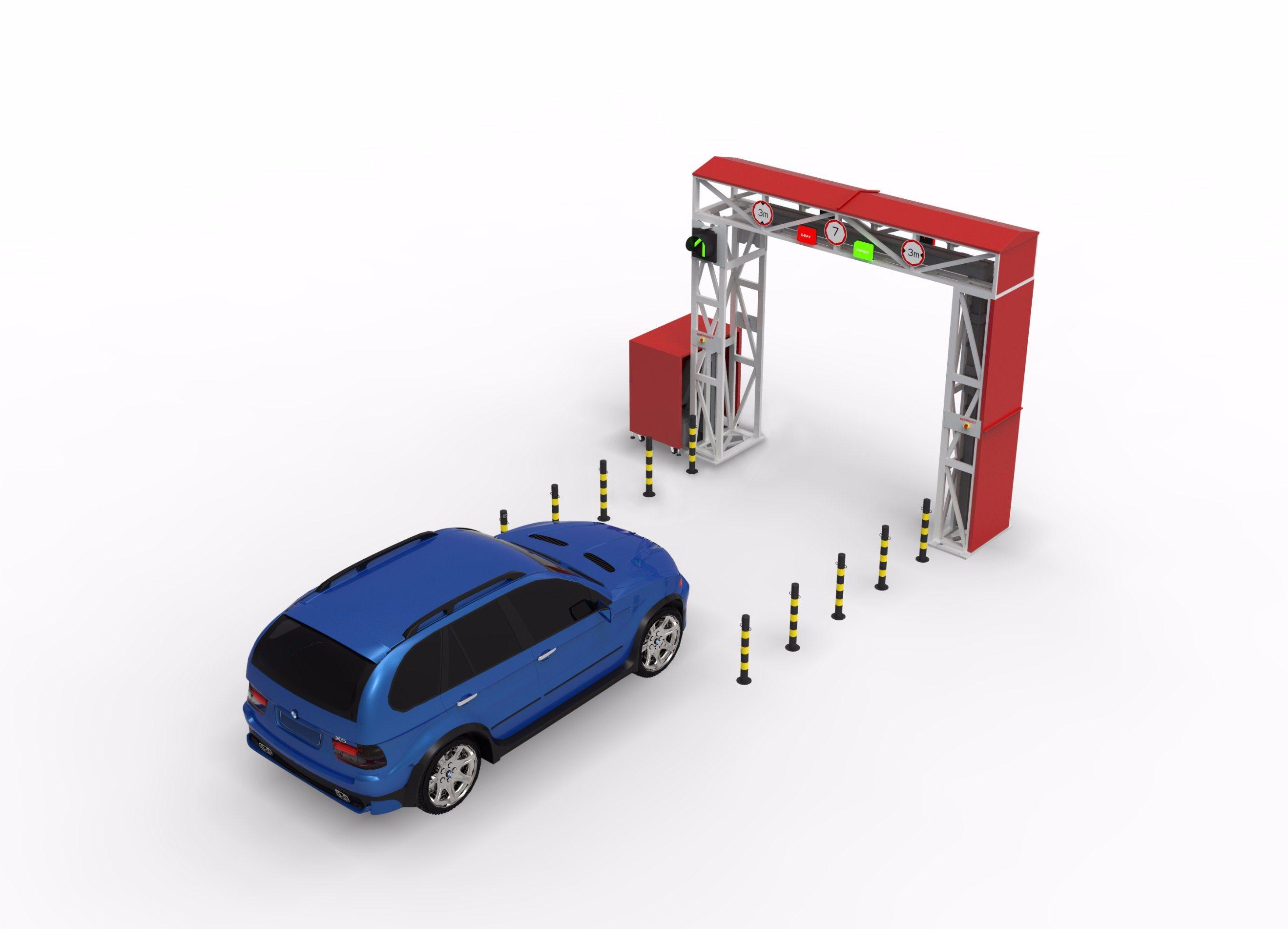 China X-ray Machine Gantry Type Car and Vehicle Scanning System