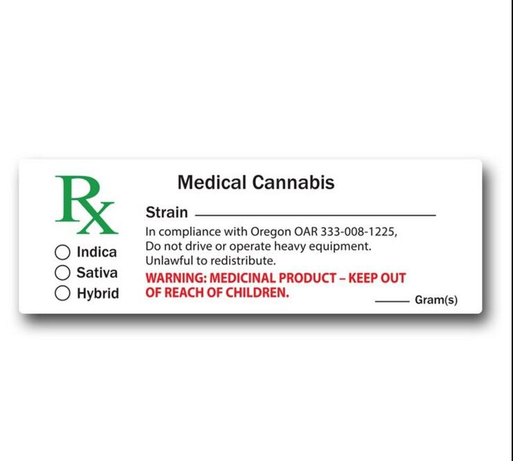 China Medical Cannabis Pop Vials Rx Label - China Rx Label, Pop Top ...