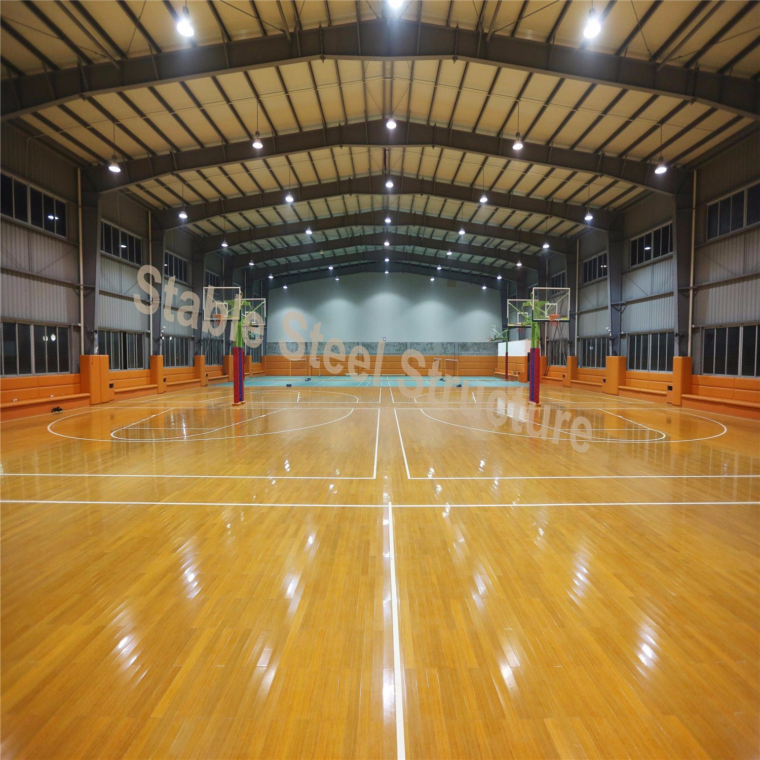 China Prefab Indoor Basketball Court Steel Structure Building With Low Cost China Steel Building Steel Structure Building