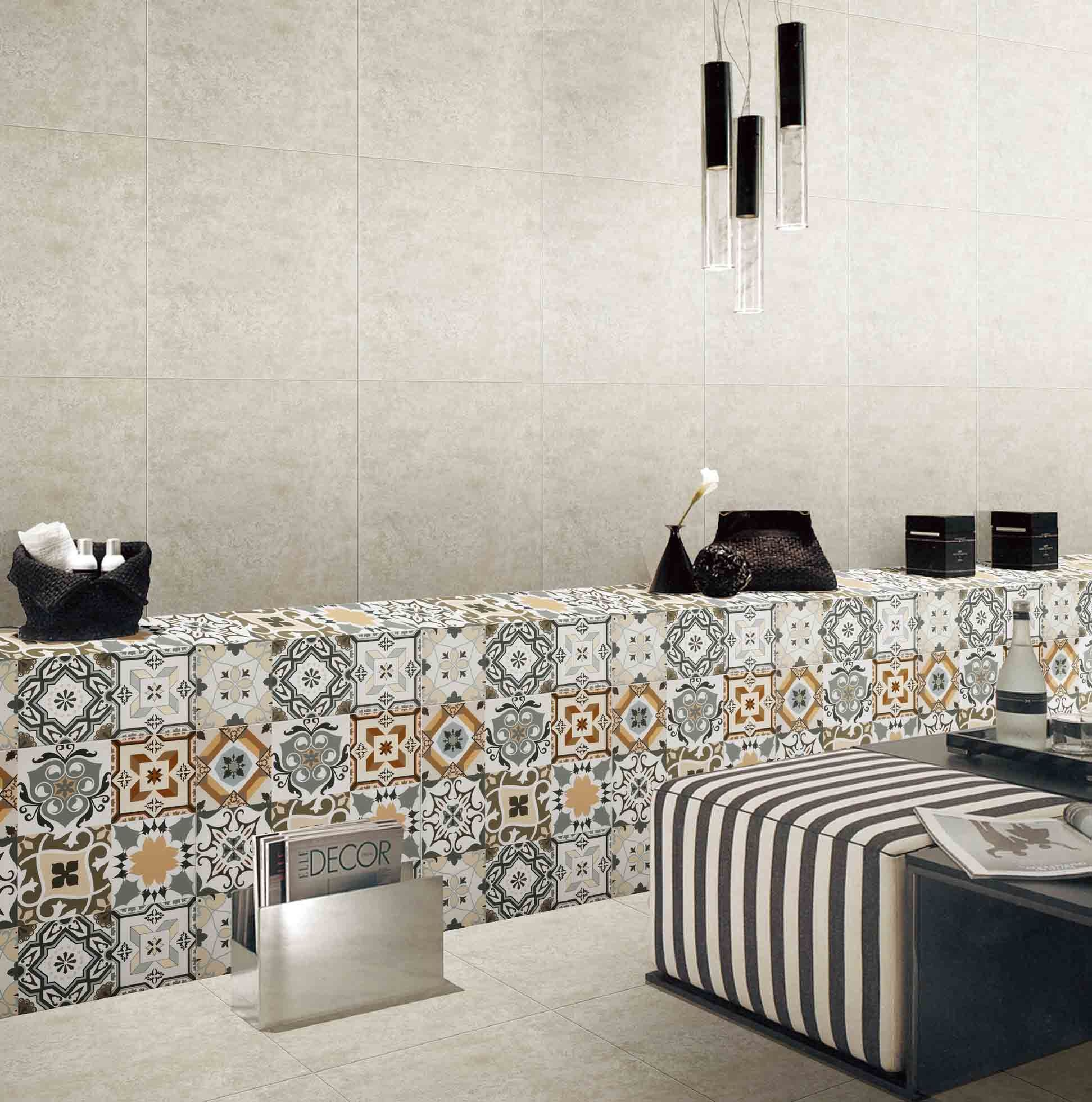 art glazed decoration tile for wall floor tile 600600 mm for coffee room restaurant hotel decoration sh6h00304