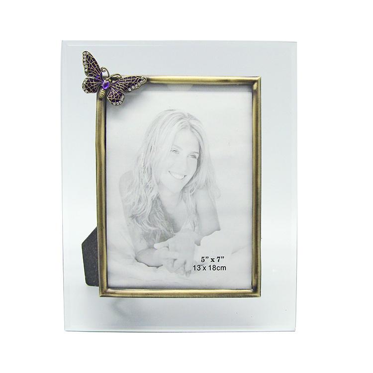 China Personalized Cute Wedding Gift Glass Photo Frame Hx-1311 ...