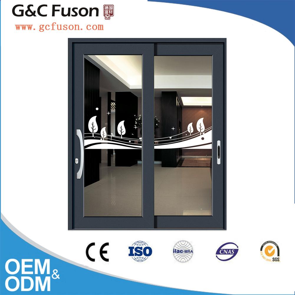 China Double Glazed Aluminium Sliding Glass Door With Shutter