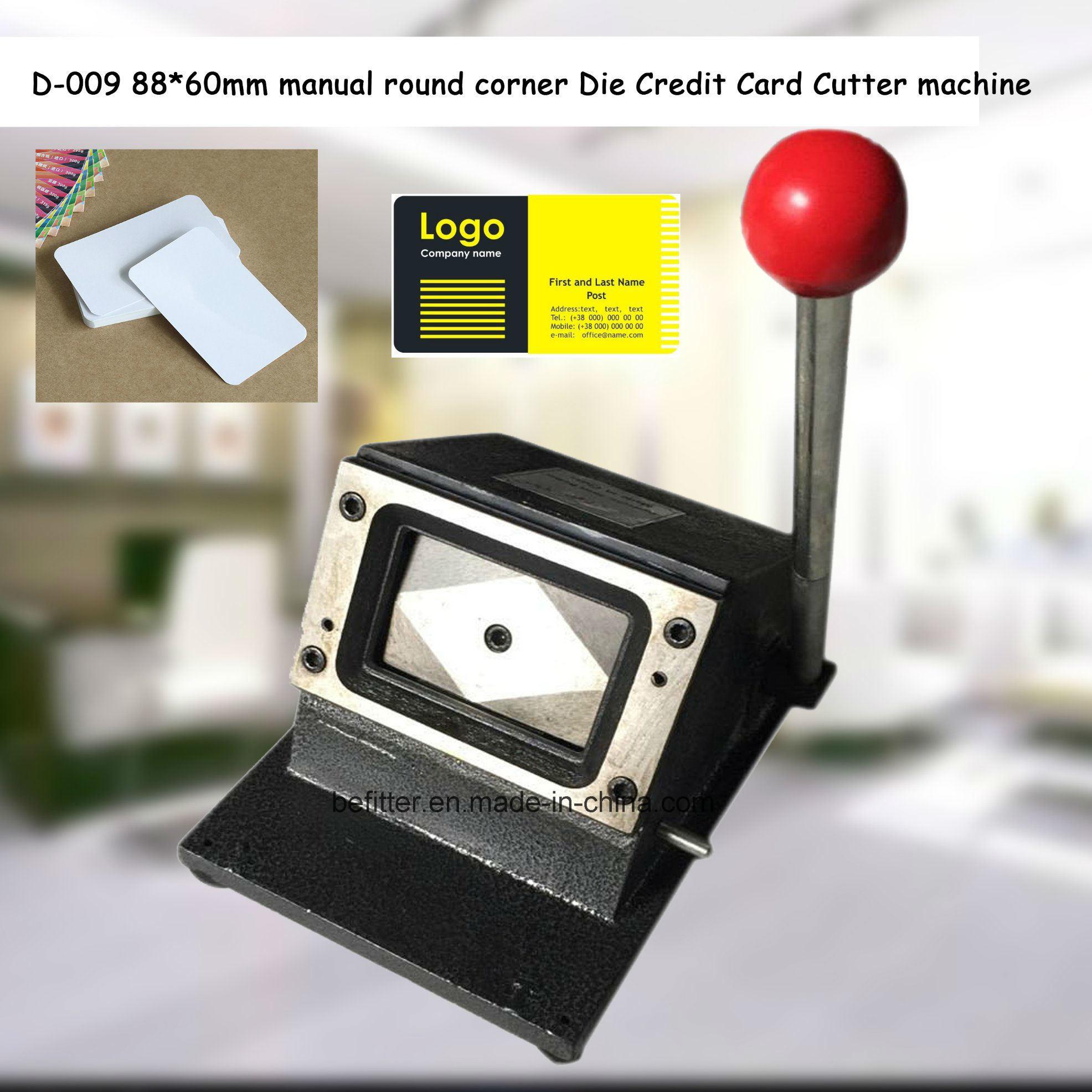 China D-009 88*60mm manual round corner Die Credit Card Cutter ...