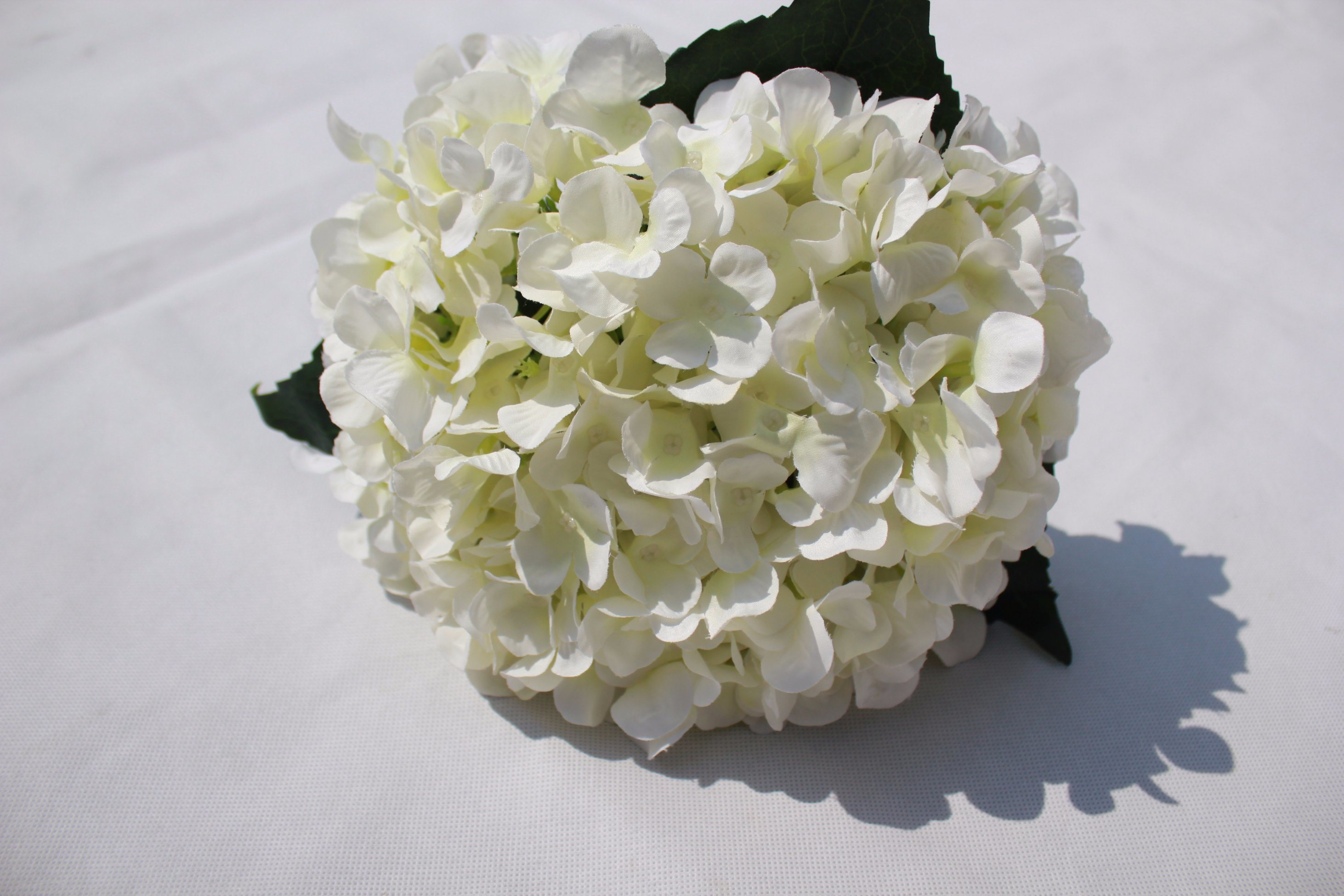 China White Silk Artificial Hydrangea Flowers Fake Flowers For