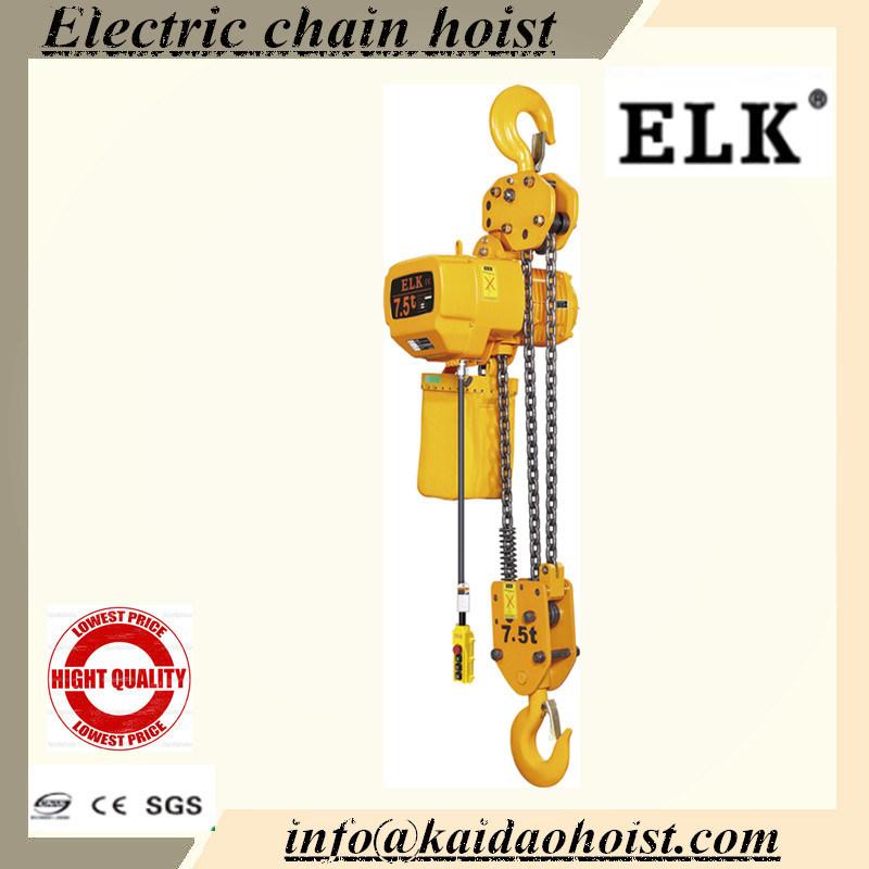 [Hot Item] Elk 7 5ton Electric Chain Hoist with Hook / Crane Hoists