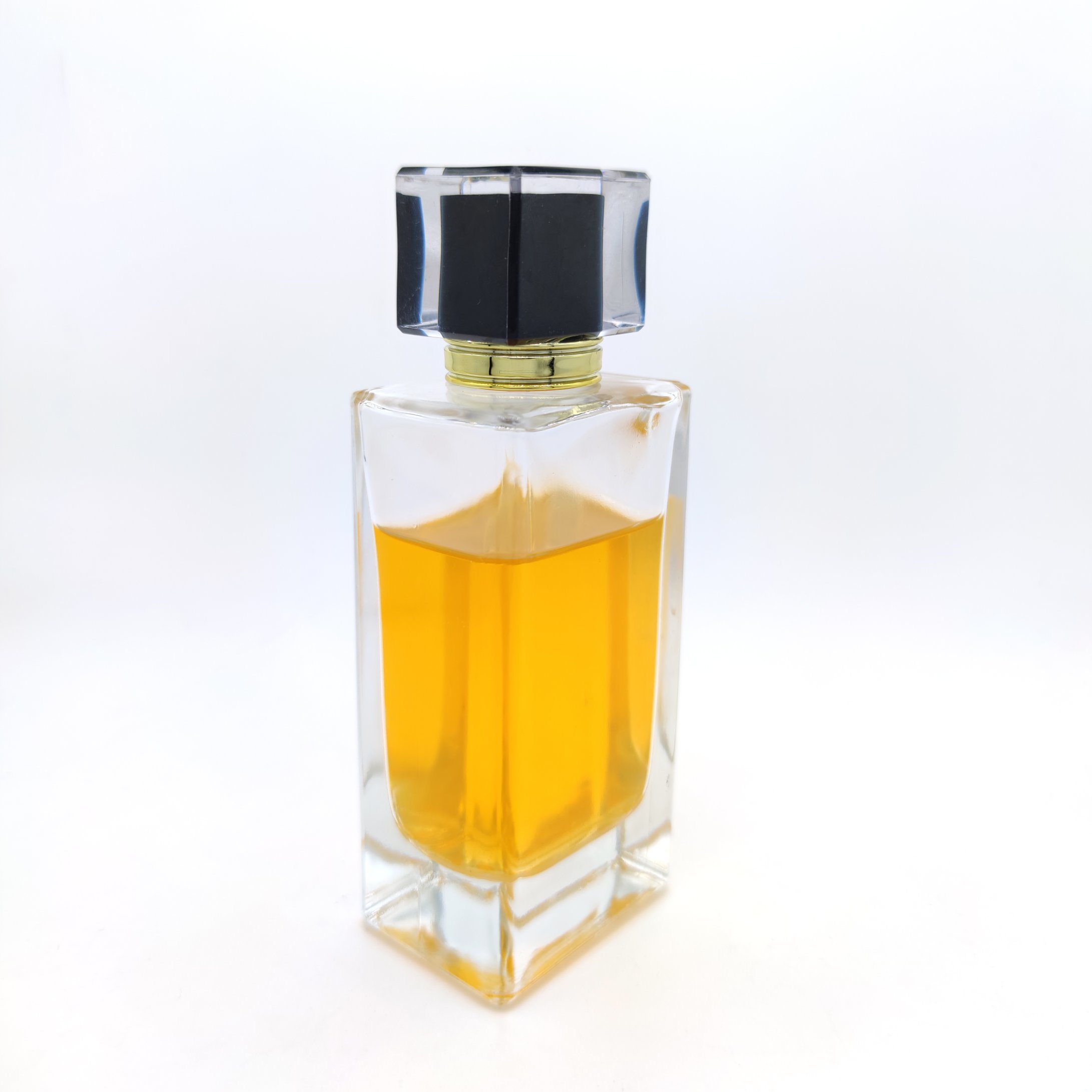 China In Stock Tall Square Perfume Bottle With Interior Internal Inside Painting Acrylic Cap Glass Material Fragrance Bottles Photos Pictures Made In China Com