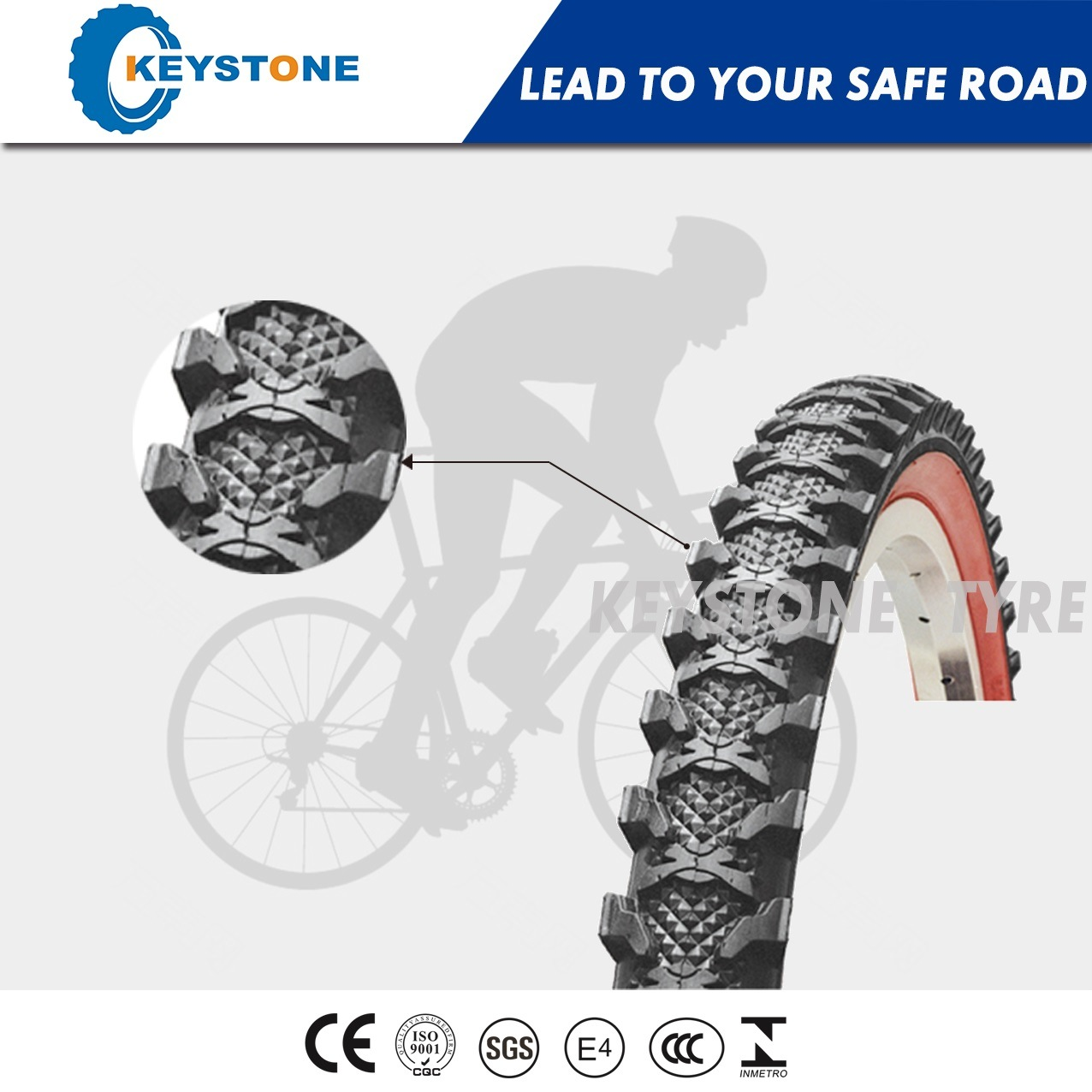 Euro Standard Bicycle Tire with Dual Compound for All Mountain 26X2.30