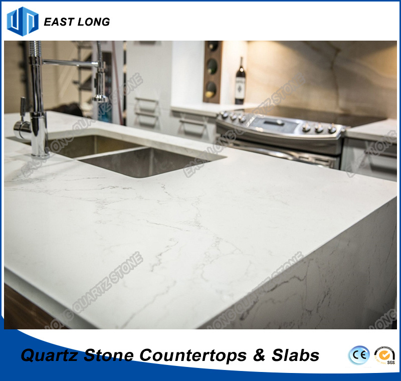 China Engineered Quartz Stone Countertops For Decoration/ Kitchen Tops With  SGS Report (Calacatta)   China Countertops, Quartz Stone
