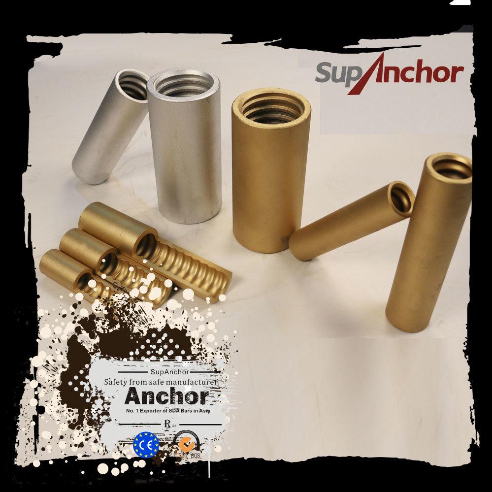 China Supanchor Anchor Bolt Extension Coupler For R32 Anchor System R32 China Anchor Bolt Self Drilling Rock Anchoring