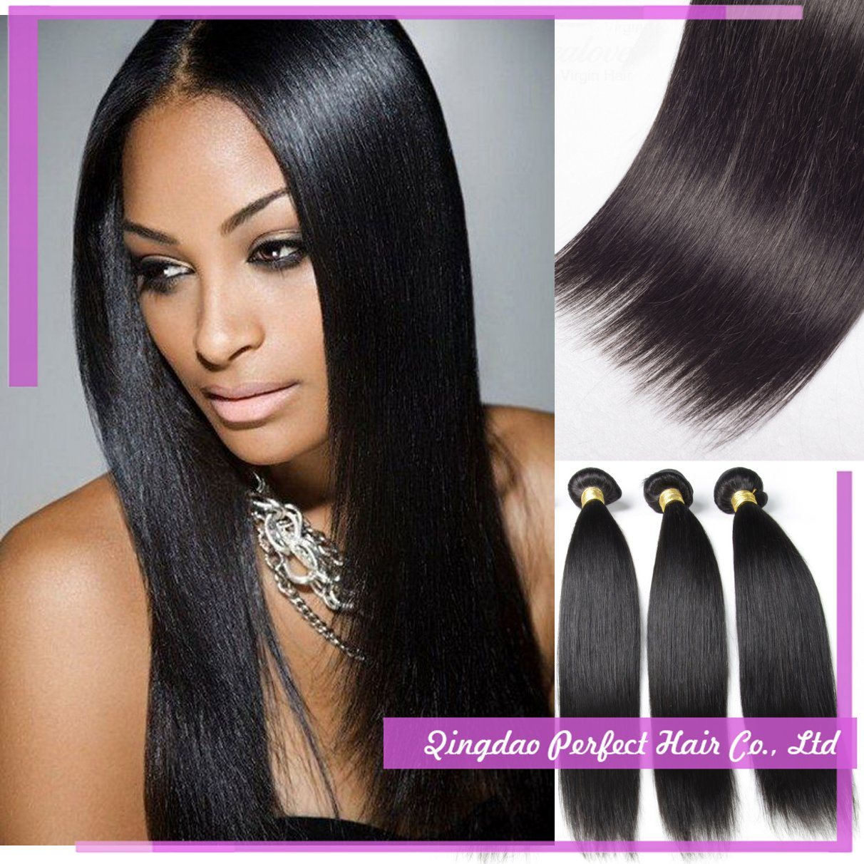 China Customized Virgin Hair Weave Products Human Hair Extension