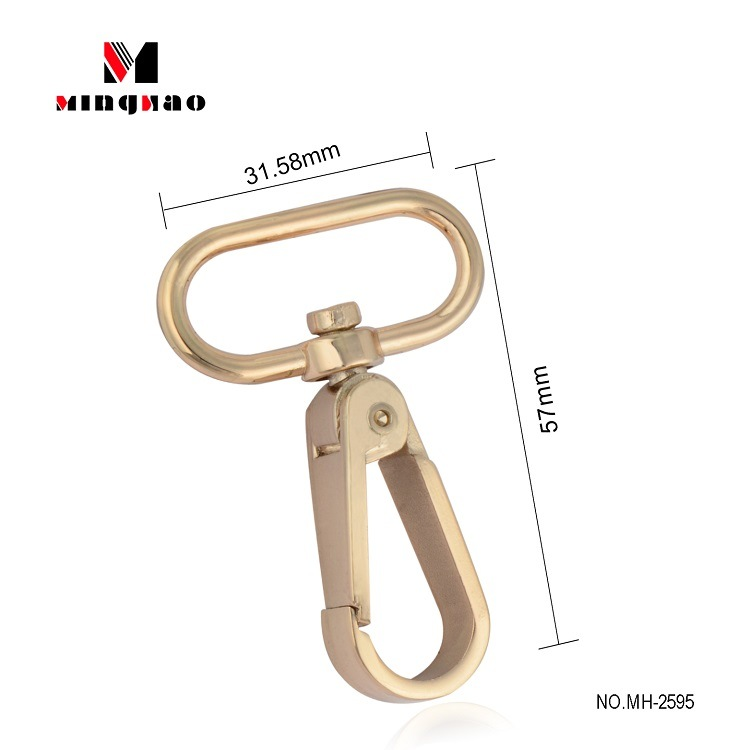 1 x Brass metal key snap hook key holder Leather Craft Key case purse Hardware