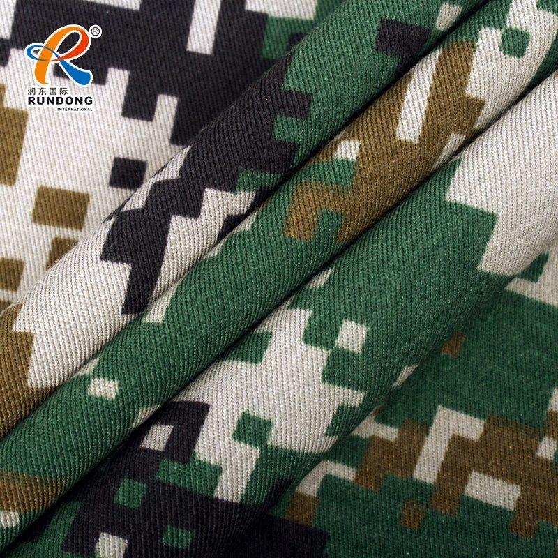 Poly Cotton Printed Fabric Digital Camo 260GSM