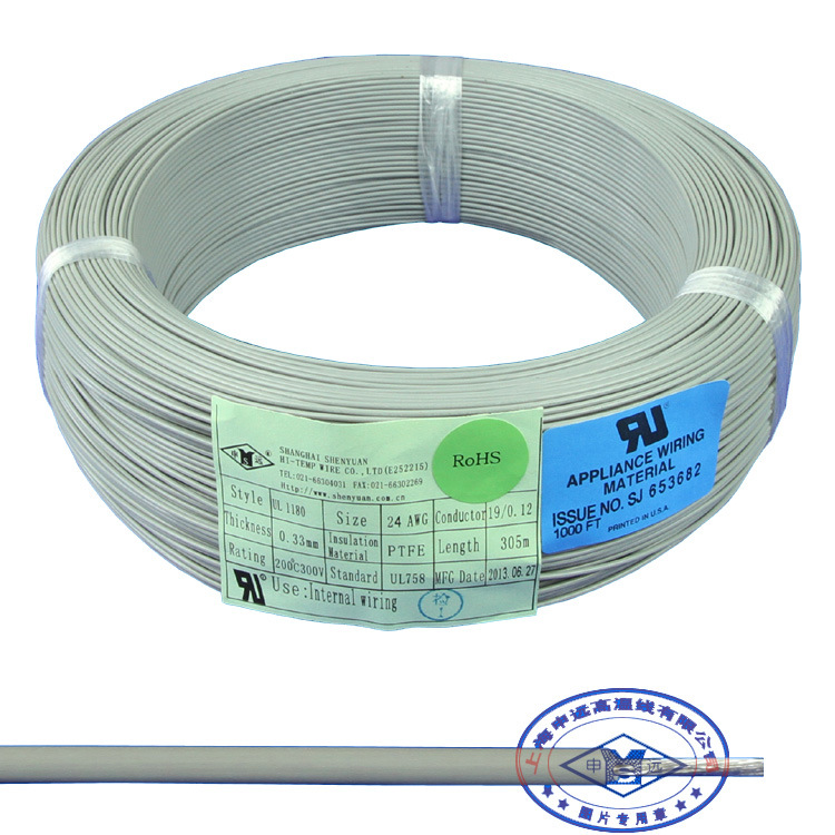China UL1180 Teflon PTFE Cable Heatproof Insulated Copper Wire ...