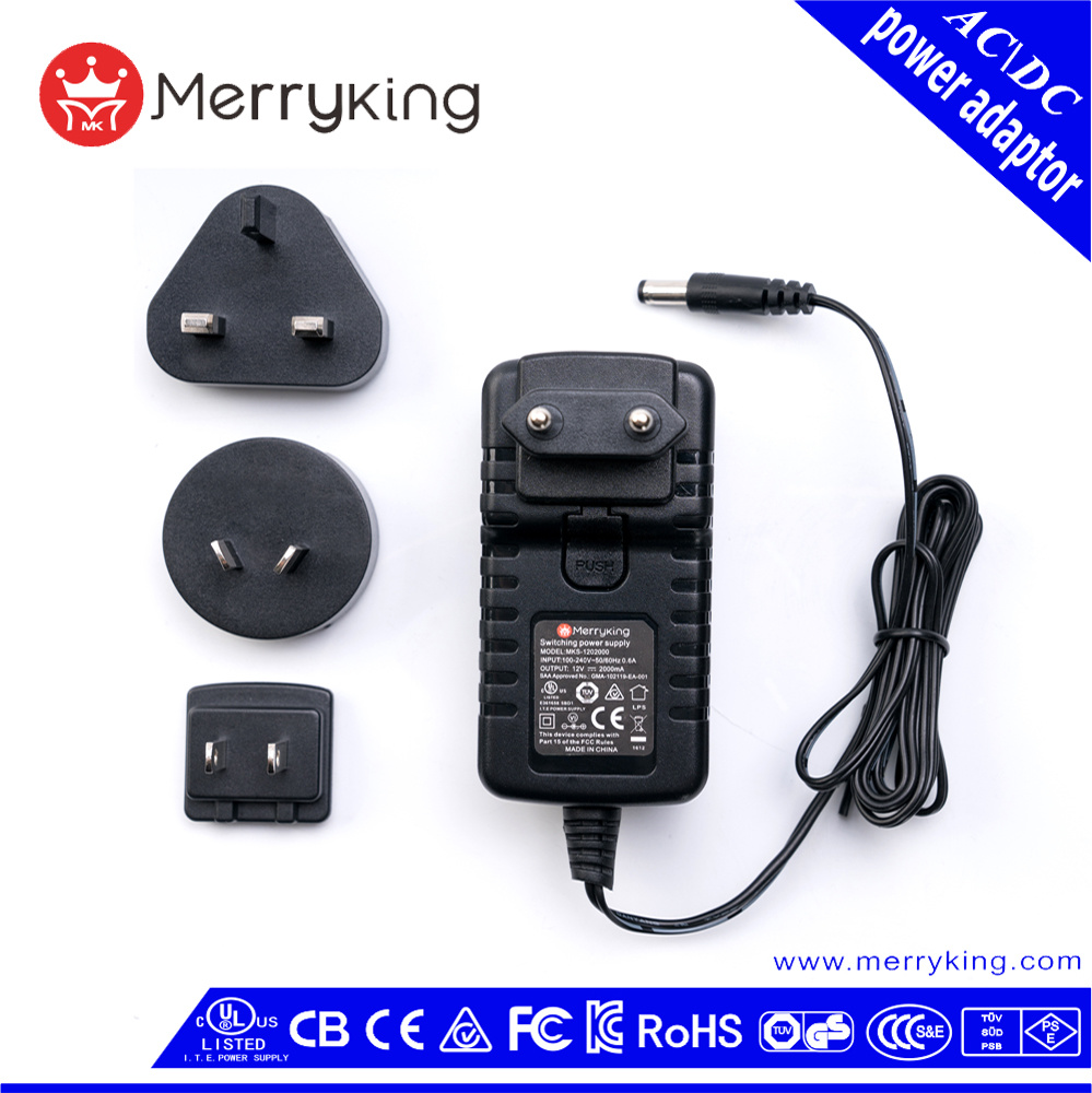 China Au UK Us EU Plug 12W 30W Voltage Power Adapter Output 3V 4.5V ...