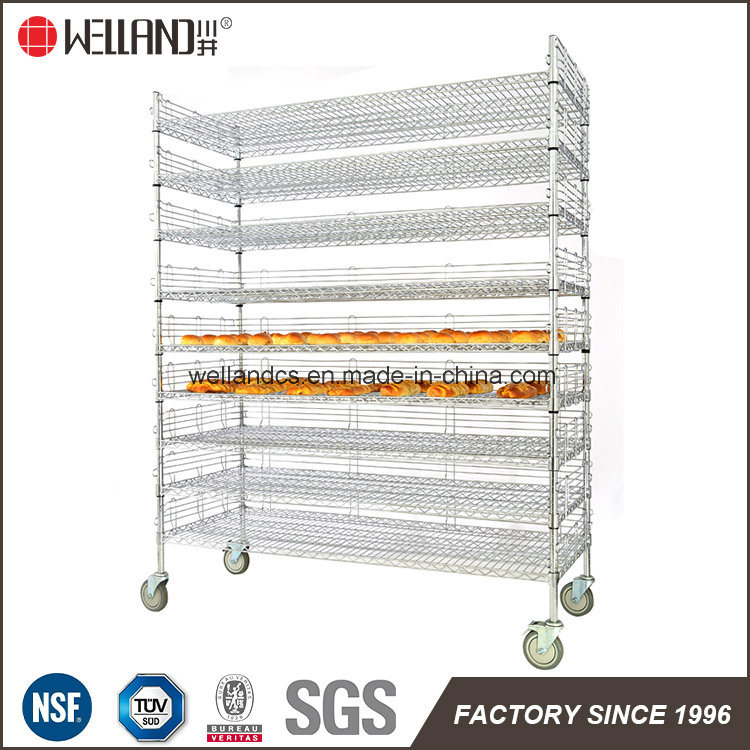 China 9 Layers Bakery Bread Cooking Storage Wire Shelving Rack in ...