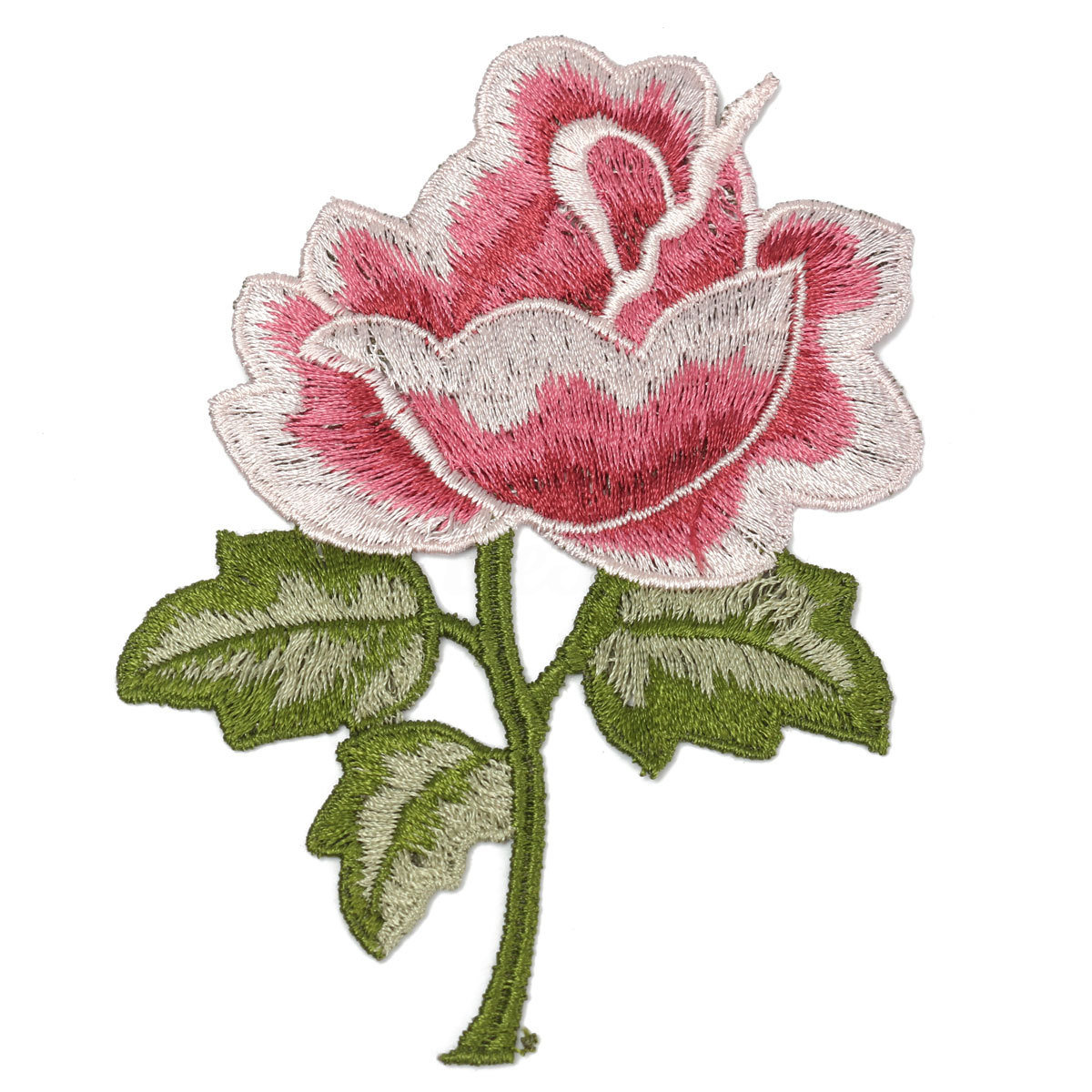 d234c3695172 China Custom Iron on Rose Applique Embroidery Flower Patches Photos ...