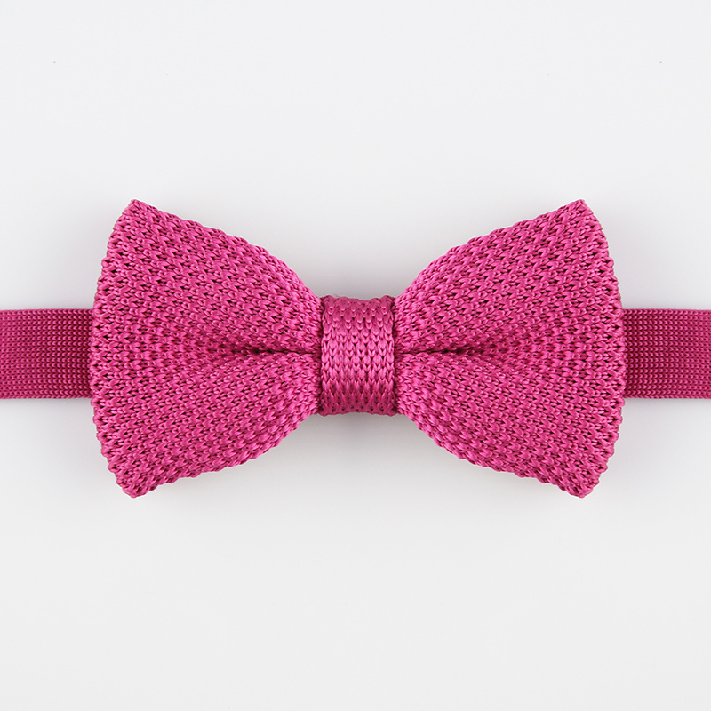 China Rose Red Knit Bow Tie China Bow Tie Woven Tie