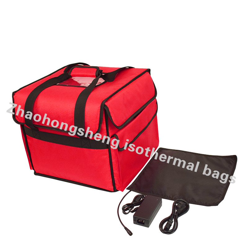 China Zhs Waterproof Custom Insulated Heated Takeaway Food Pizza Delivery Bags Bag