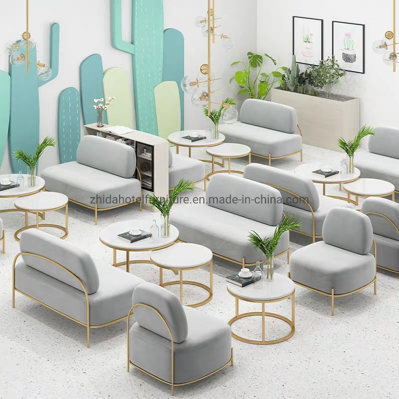 China Love Seat Cafe Shop Restaurant Furniture Fabric Sofa Chair Tables And Chairs Set China Modern Furniture Set Restaurant Furniture Set