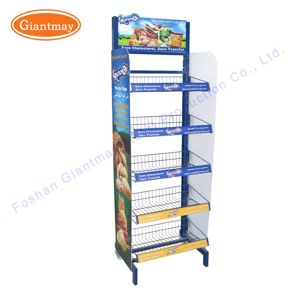 pocket floor standing display gd rack trd literature snack