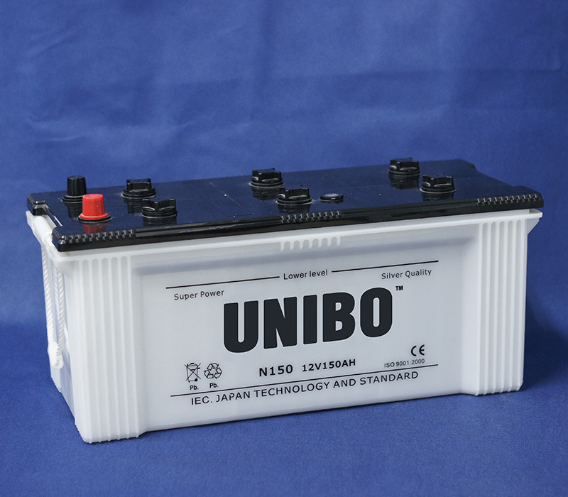 Truck Battery JIS Standard N150 12V150ah Dry Charged Lead Acid Auto Battery pictures & photos