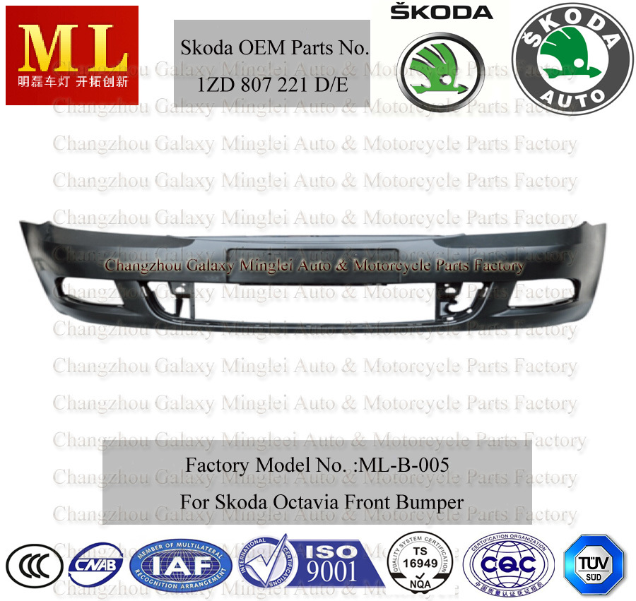 Flexible Front Bumper for Skoda Octavia From 2009 (1ZD 807 221)