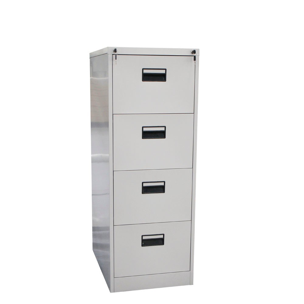 Knocked down anti tilt 4 drawer steel file storage cabinet metal chest furniture