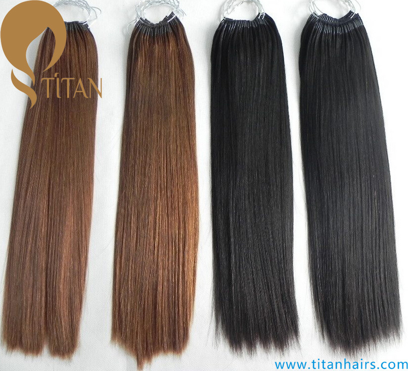 China Raw Human Hair Pre Bonded Cotton String Hair Extensions