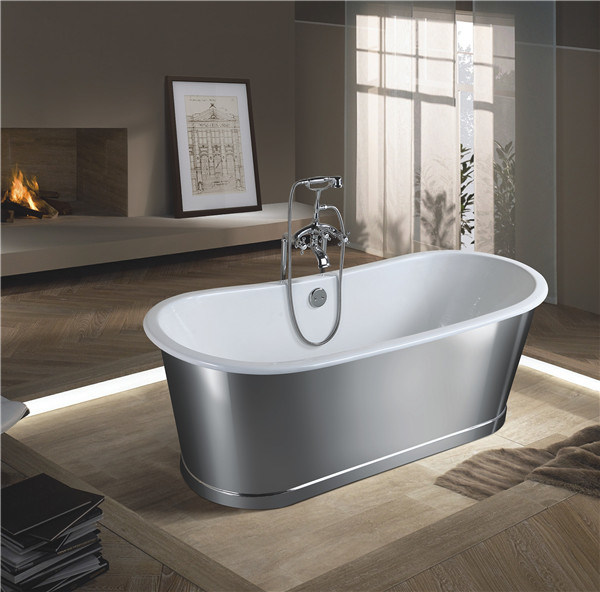 China Double End Freestanding Enamel Cast Iron Bathtub with ...