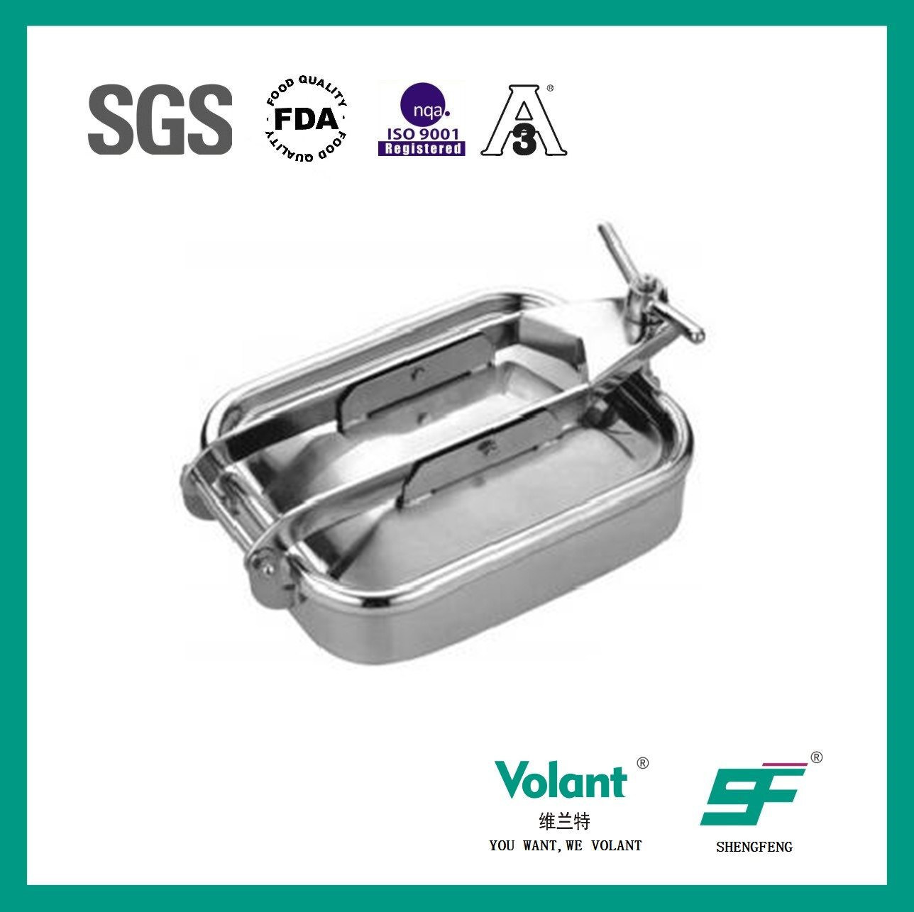 Sanitary Stainless Steel Pressure Manhole Sf9000301
