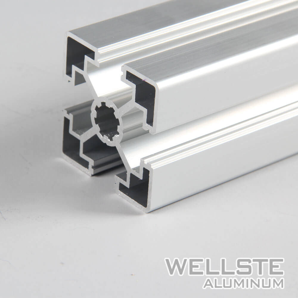 China Silver Anodized Extruded T Slot 45*45 Aluminium Profile for ...