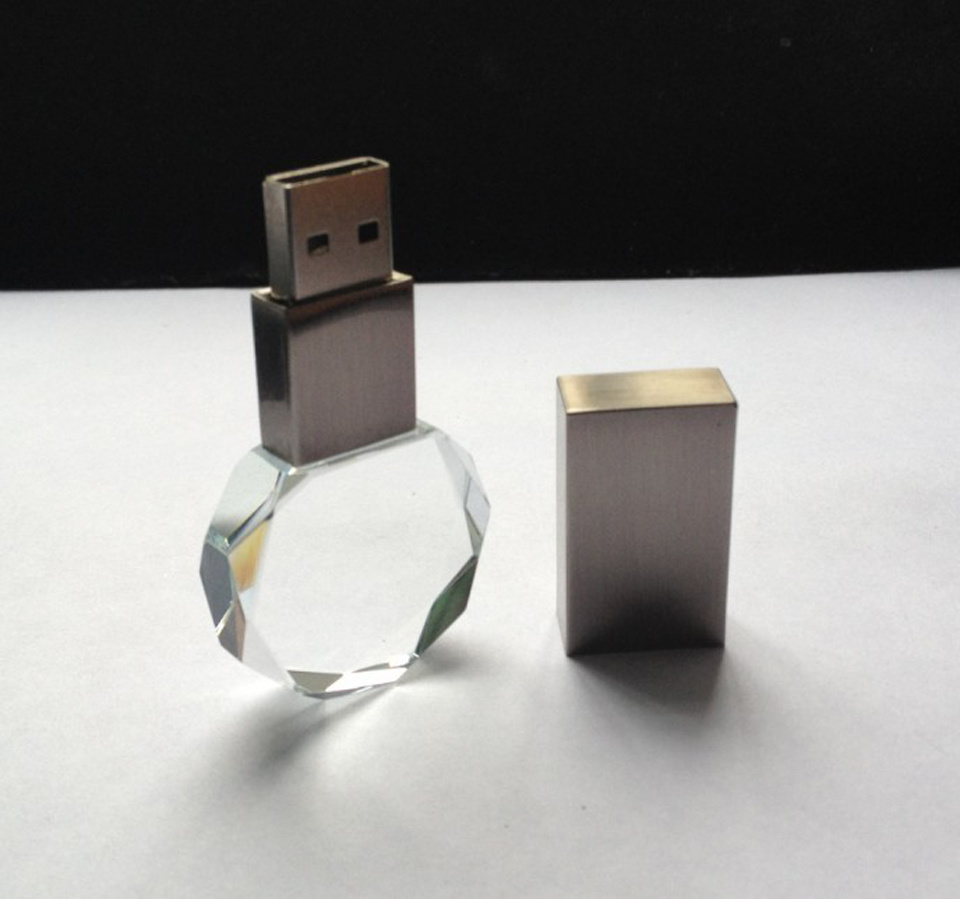 Round Ball Shape Crystal USB Flash Memory