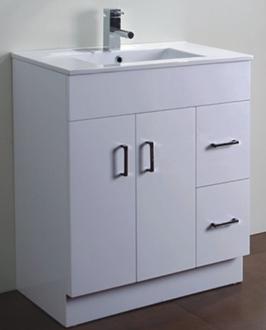Modern Sanitary Ware Glossy White MDF Bathroom Vanity AB 75M