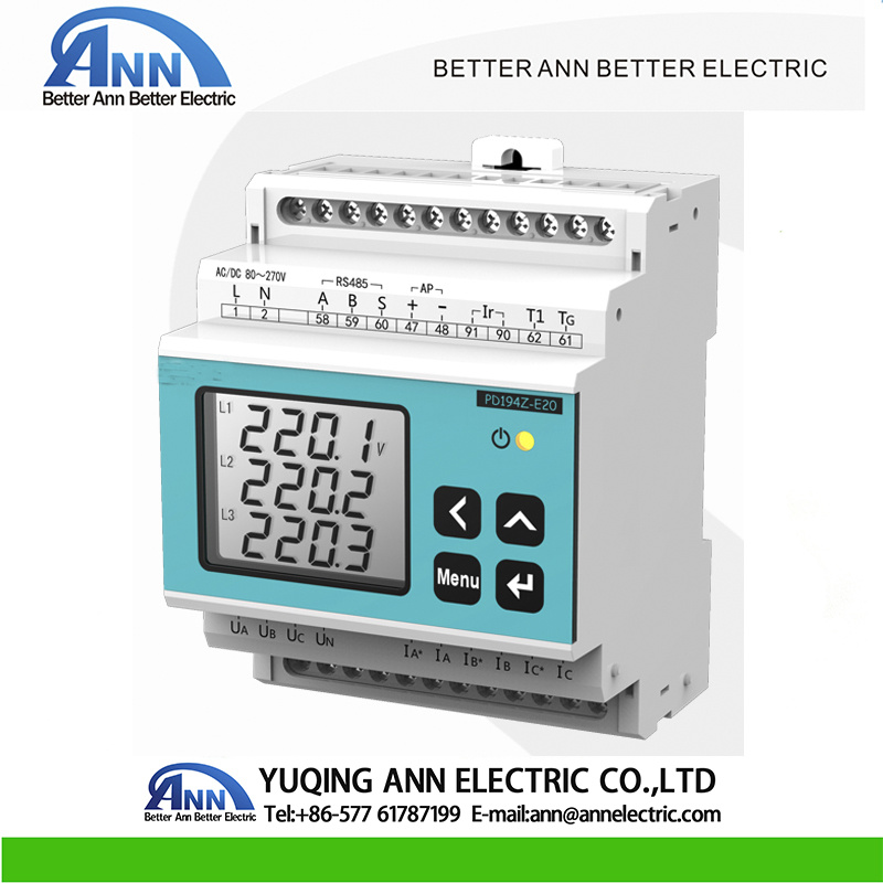 China Pd194z-E20 DIN Rail Mounted Three Phase Digital Multi-Function
