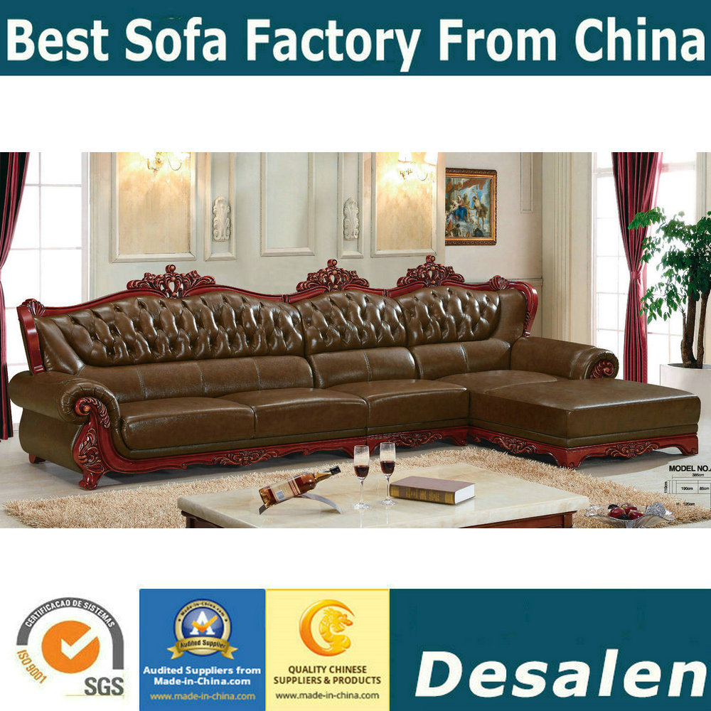 China Best Selling Living Room Furniture Royal Leather Sofa (A37 ...