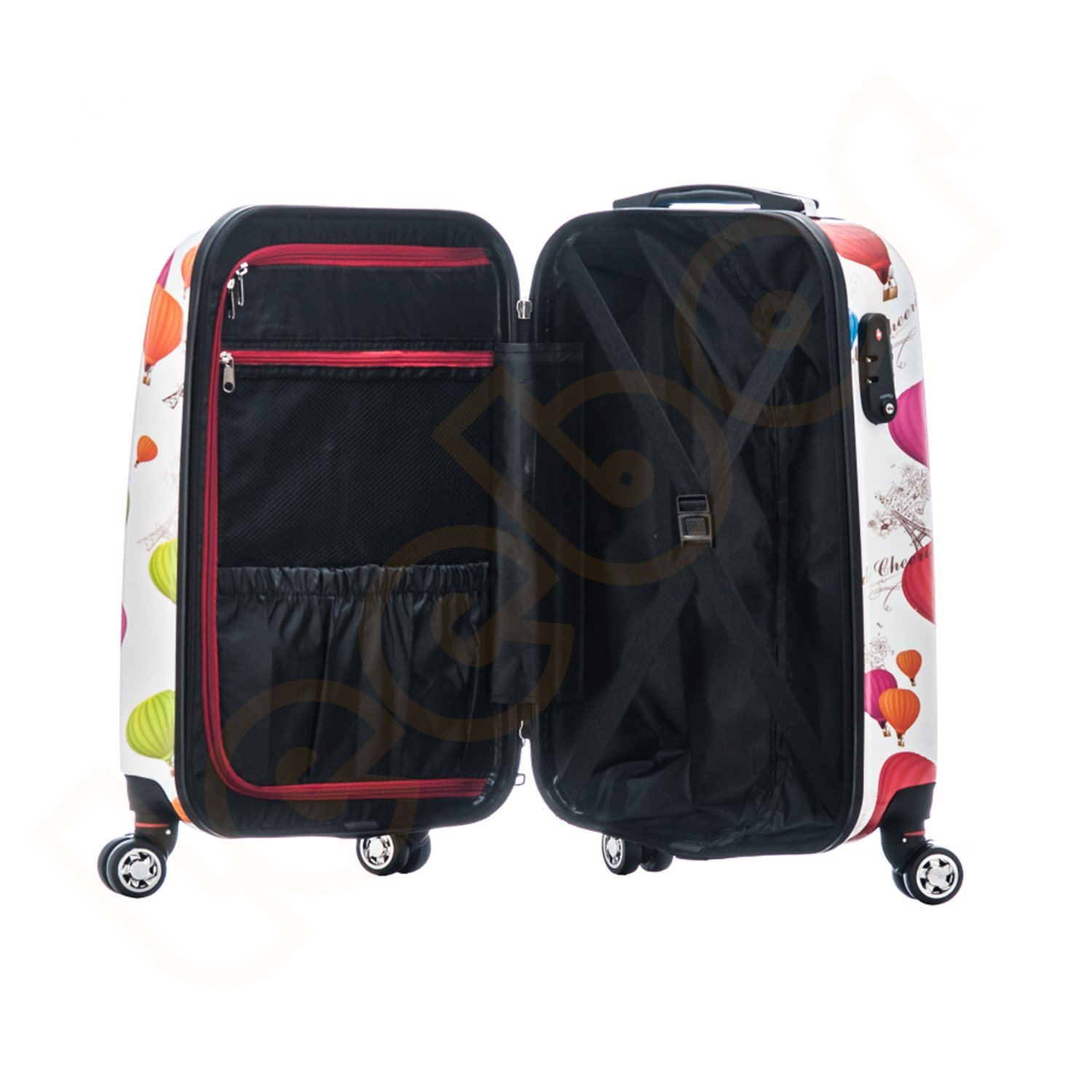China Leisure Popular ABS+PC Trolley Luggage Hardshell Suitcase with ... bd0c00423a