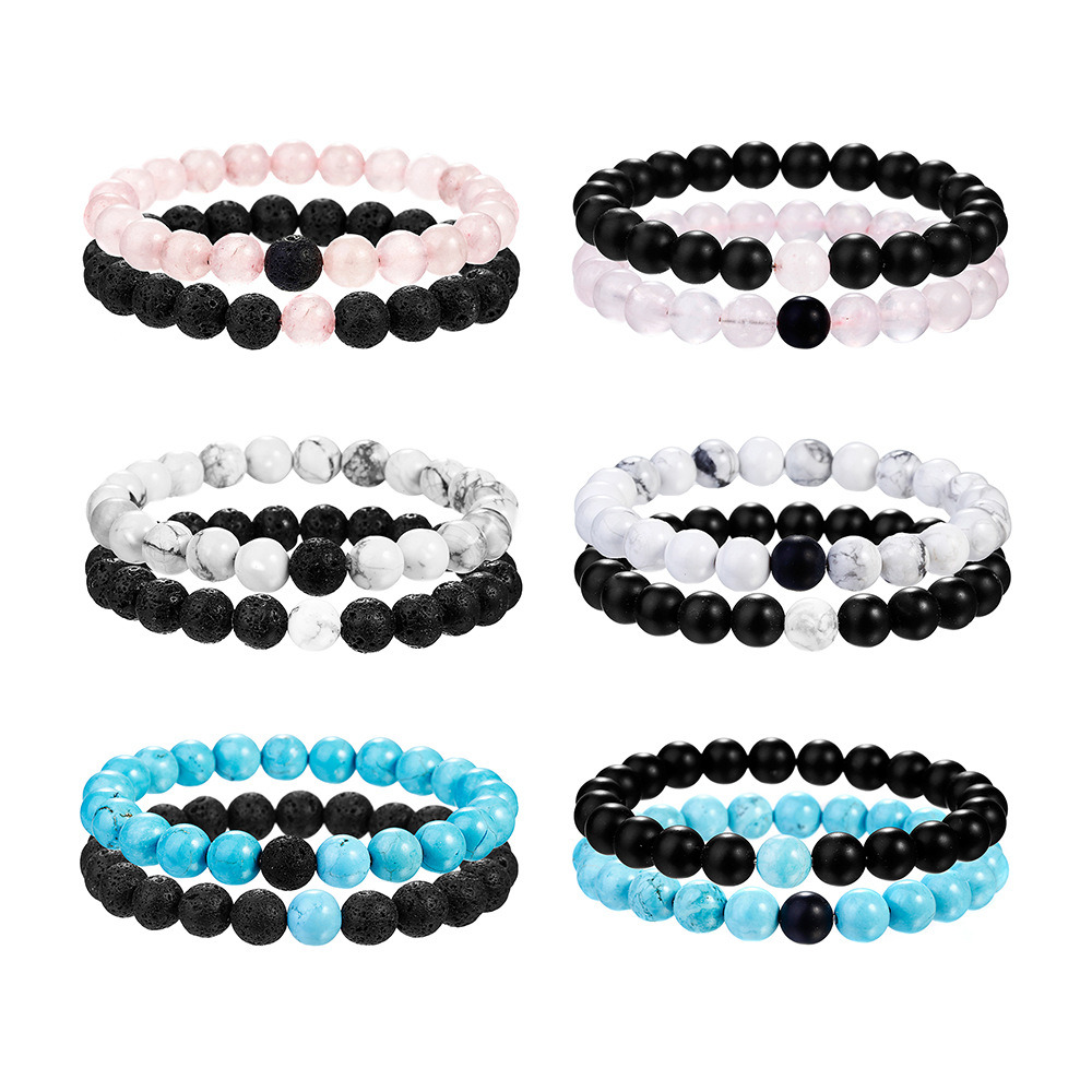 3f124b8de49d9 [Hot Item] Stone Couples Distance Bracelet Classic Beaded Bracelets for Men  Women