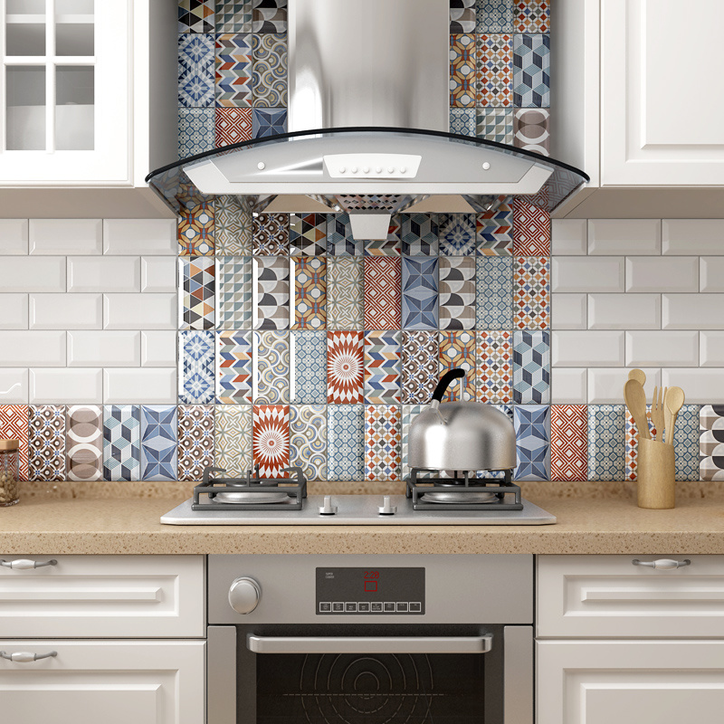 China Bathroom Geometric Mixed Color Wall Decorative Material Subway Tile