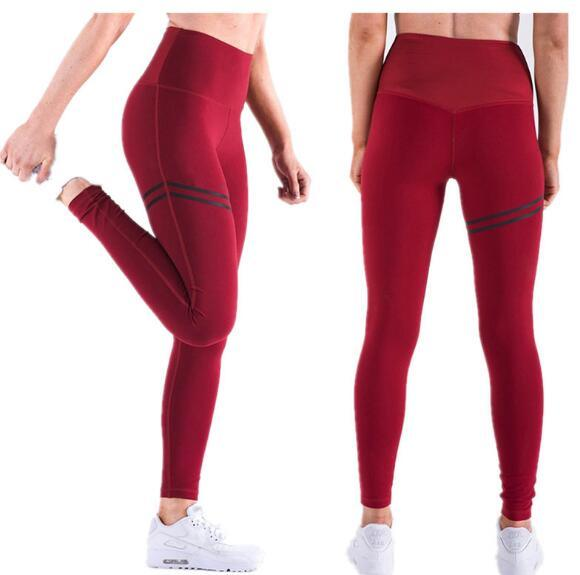 Four-Needle Six-Line Yoga Pants Casual Sports High Waist Leggings Solid Color pictures & photos