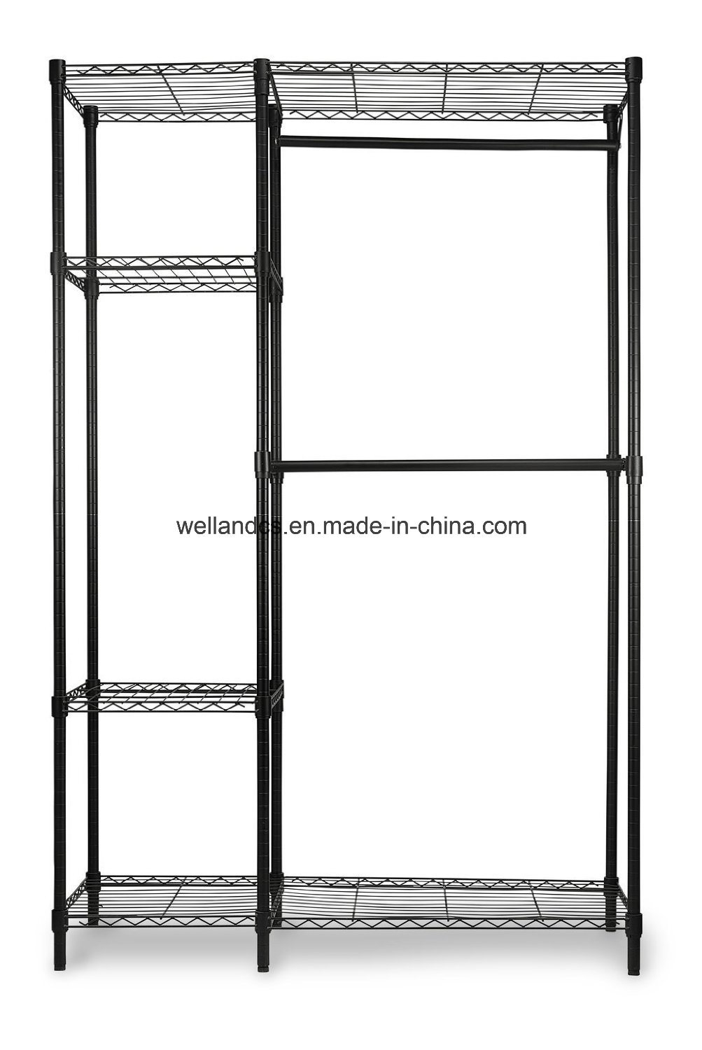 China Customized New Style Garment Wire Shelving Design Carbon Steel ...