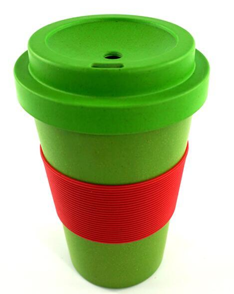 Hot Item 16oz Bamboo Fiber Coffee Mugs Bulk Cups Disposablebamboo