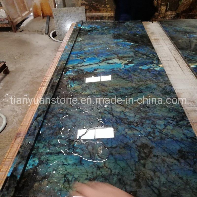 China Labradorite Blue Granite Kitchen Stone Countertop China Kitchen Countertop Quartz Countertop