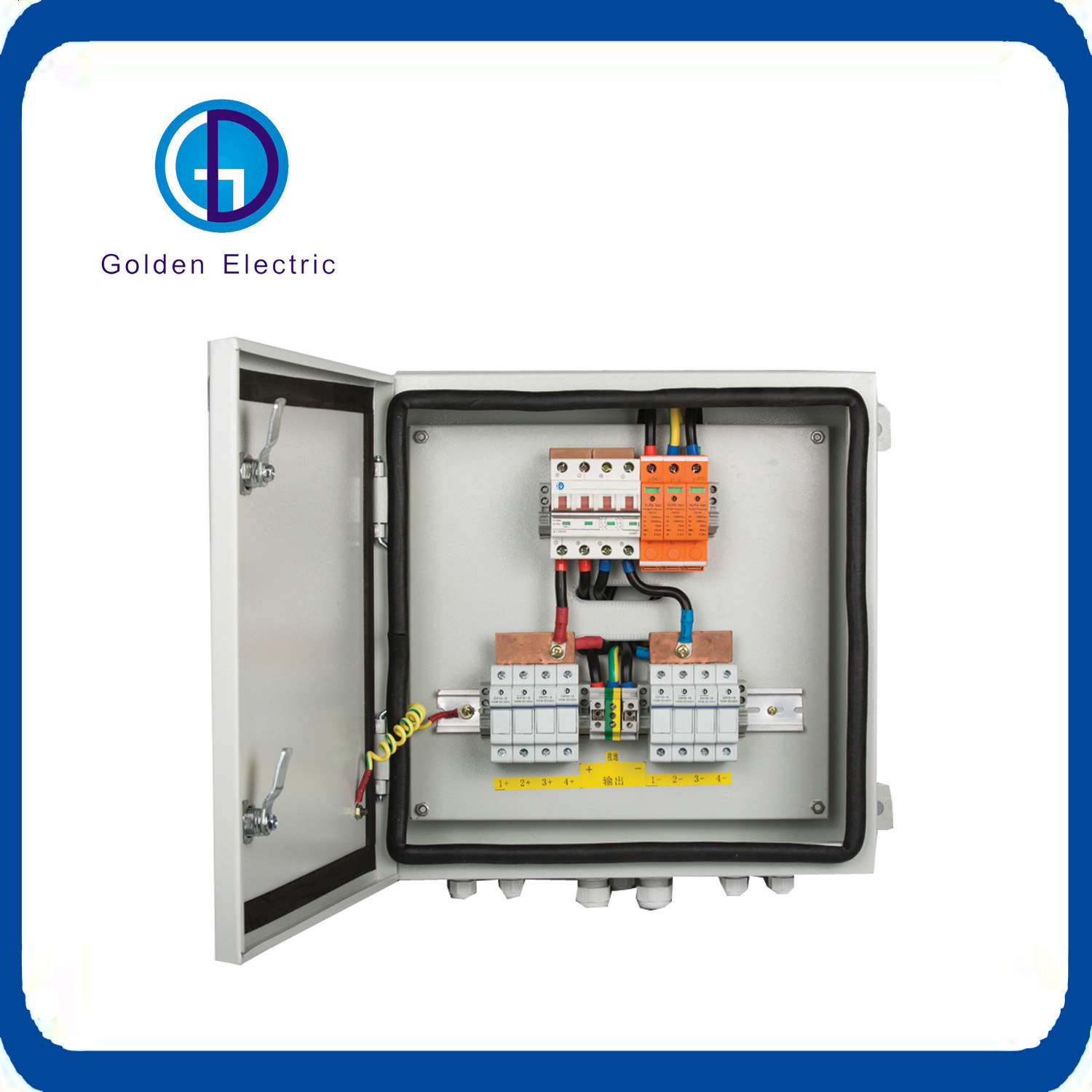 China Ip65 Outdoor Wall Mounted Pv Combiner Box With 18 Channels Solar Panel Breaker Additionally Garden Light Circuit As Input Switch