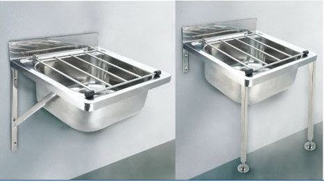 China Wall Mounted Stainless Steel Janitorial Sink Bucket