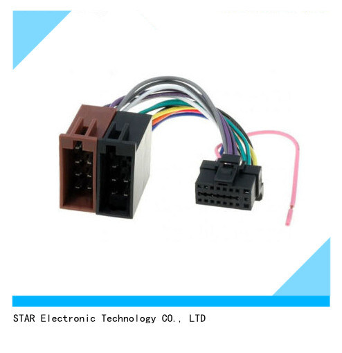 china alpine 16 pin to iso lead wiring loom power adaptor wire rh starconnect en made in china com