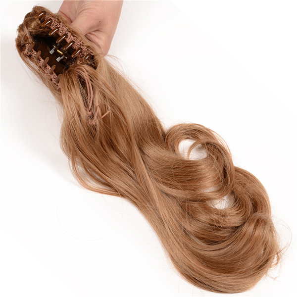 China Wholesale Cheap Prices Synthetic 20inch Human Hair Ponytail