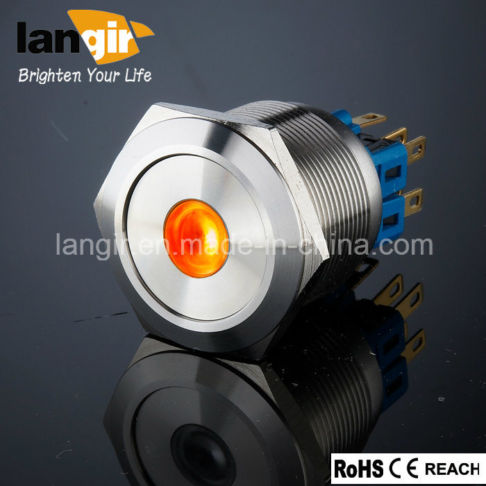 Langir L25 25mm. Metal Anti Vandal Push Button Switch