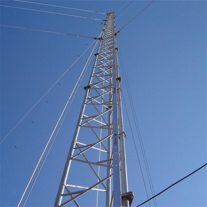 China Galvanized Triangular Guy Wire Anemometry Met Mast Tower ...