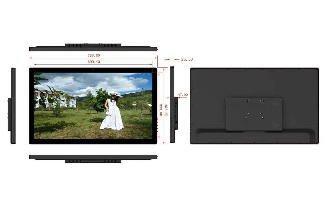 "32"" WiFi Build in Battery HD LCD Digital Picture Photo Frame with USB, SD Card Video Advertising Player Plastic Monitor pictures & photos"