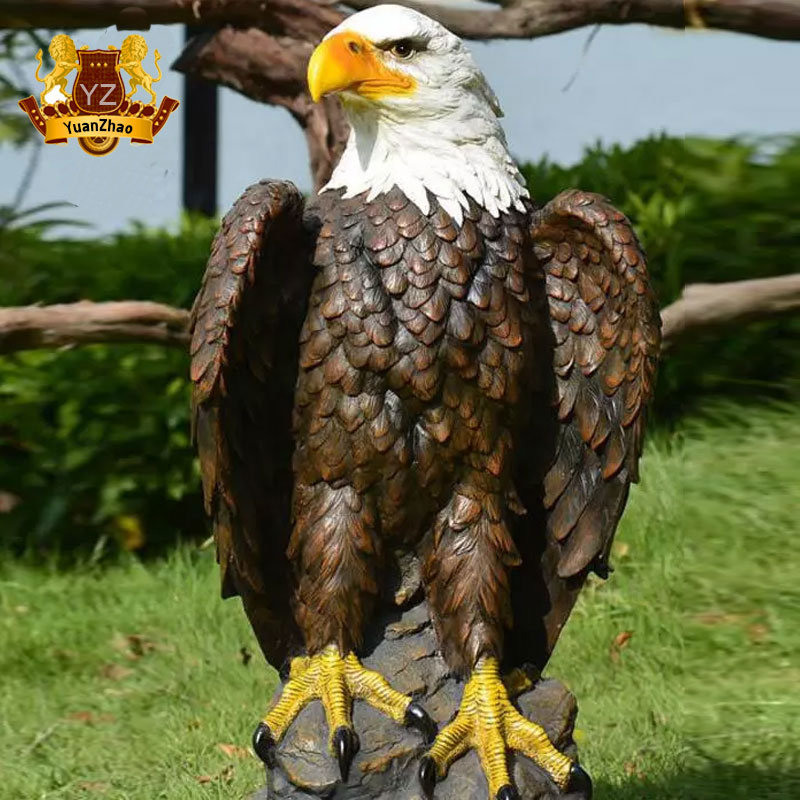 Brown Eagle Figure Sculpture Resin STATUE Ornaments Garden Lawn Figurine